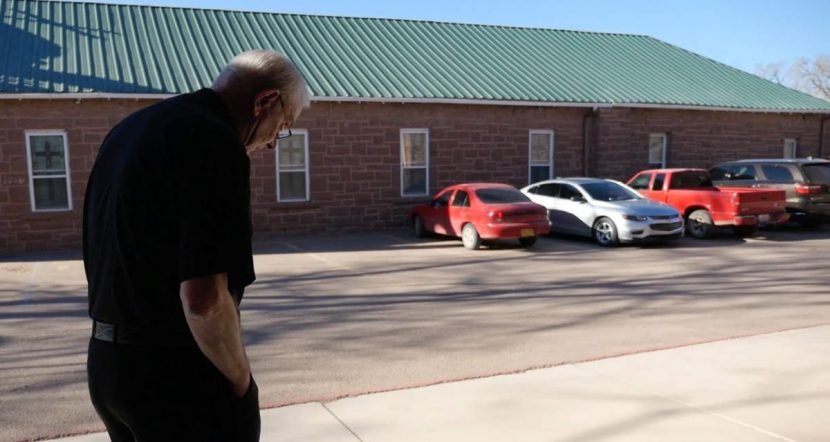 Father McGuire at Zuni Mission Reflecting on a walk