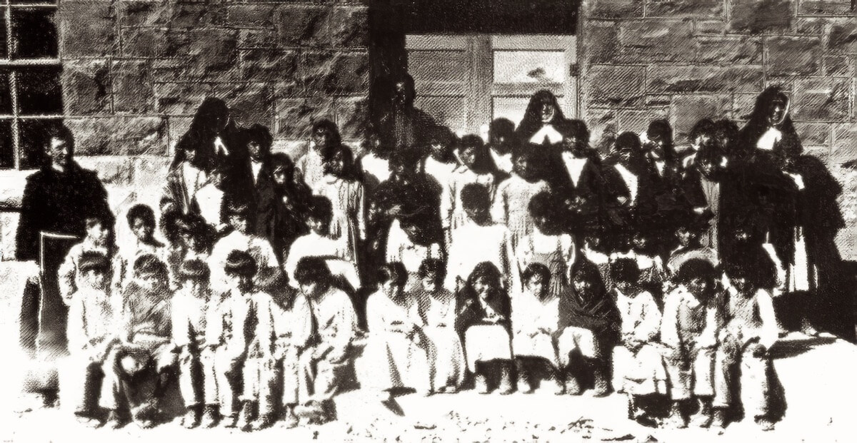 First enrollment of students at St Anthony Zuni in 1923