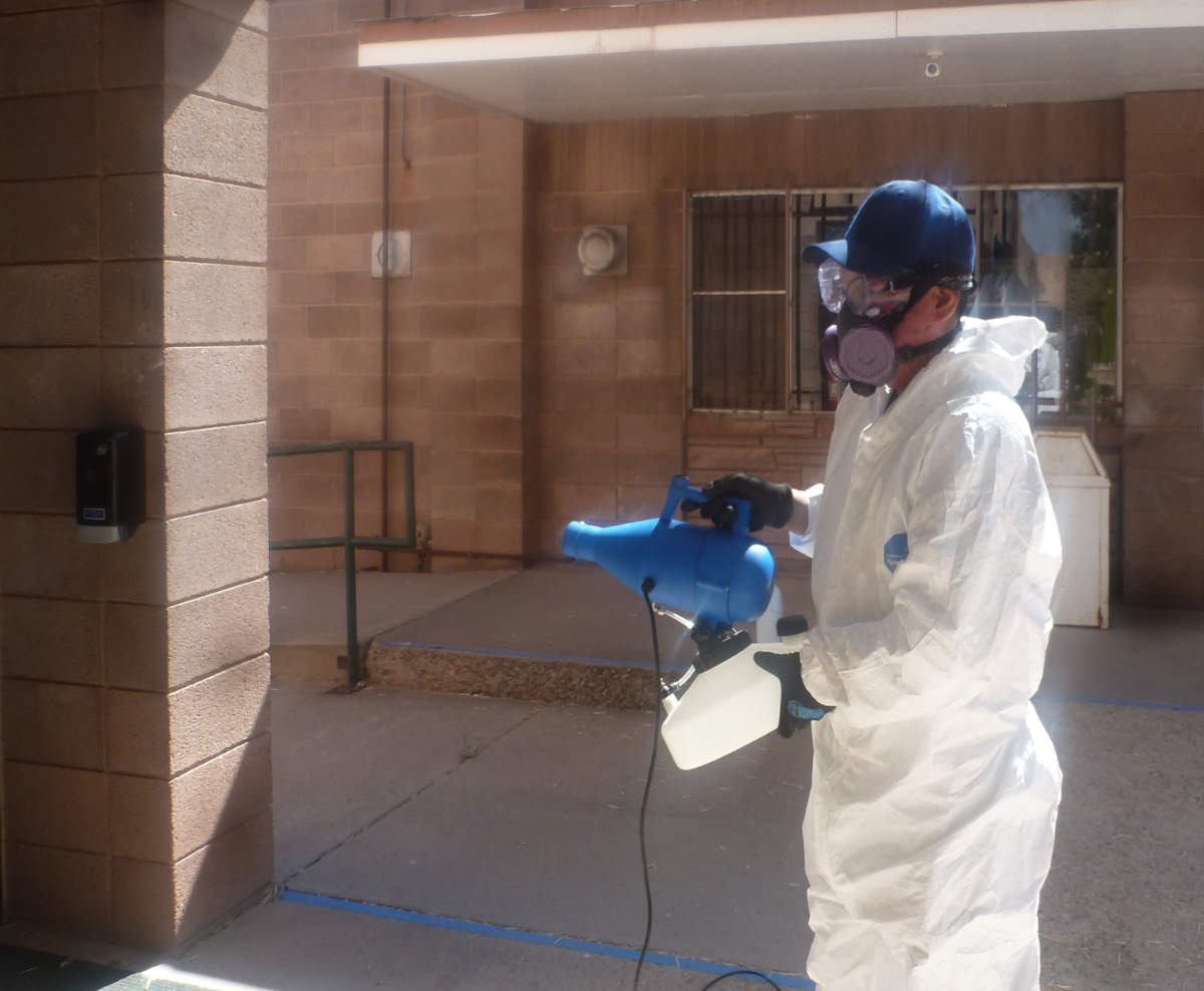 Zuni St. Anthony School Sanitized by Fogging