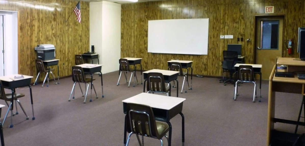 Empty 8th Grade Class at Zuni
