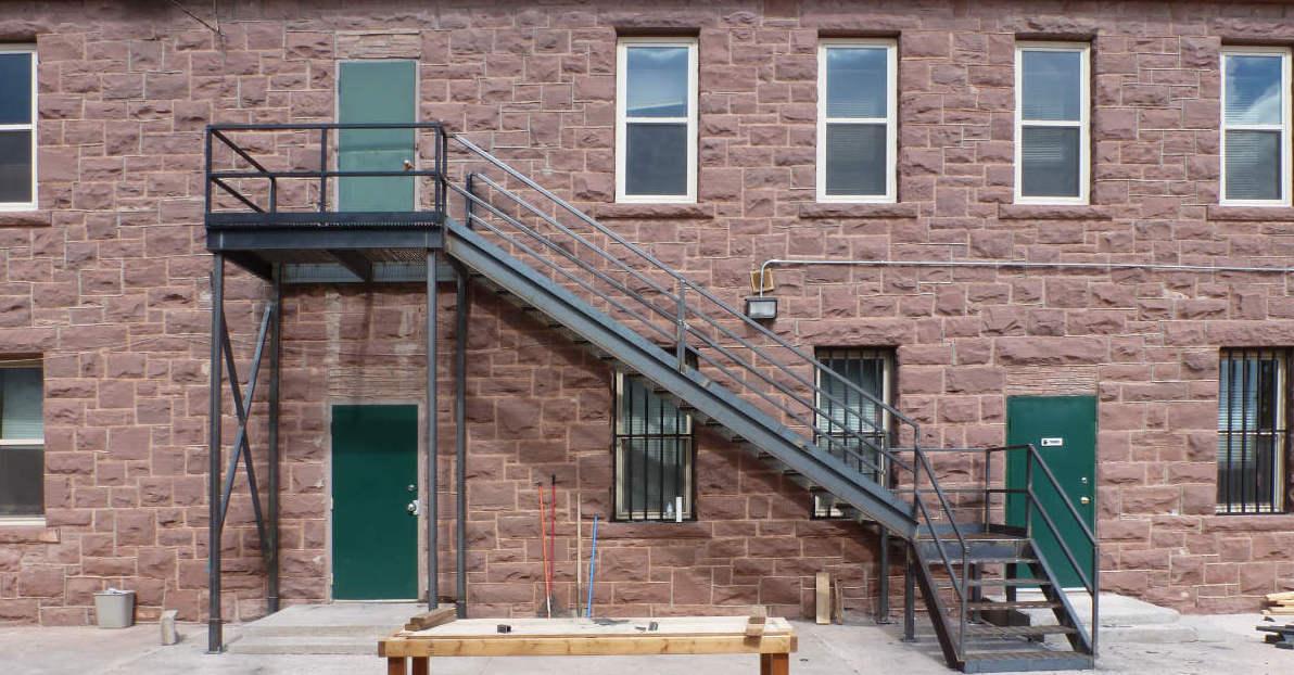 New Zuni fire escape