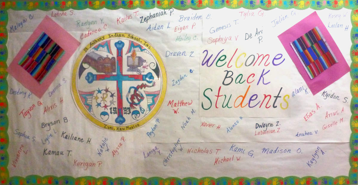 Welcome Back! St. Anthony's School - Zuni